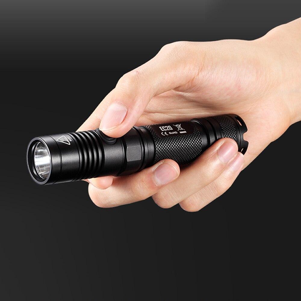 Top ventes NITECORE 960 LM EC20 CREE XM-L2 T6 lampe de poche étanche élégant tubulaire corps 18650 Camping Portable torche livraison gratuite