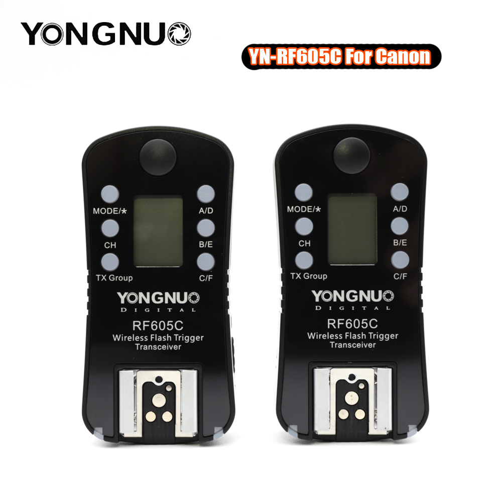 YONGNUO RF-605C RF-605N 2.4GHz Wireless Flash Trigger LCD Screen TX/RX Remote Control Shuttle Release for Canon Nikon Pentax все цены