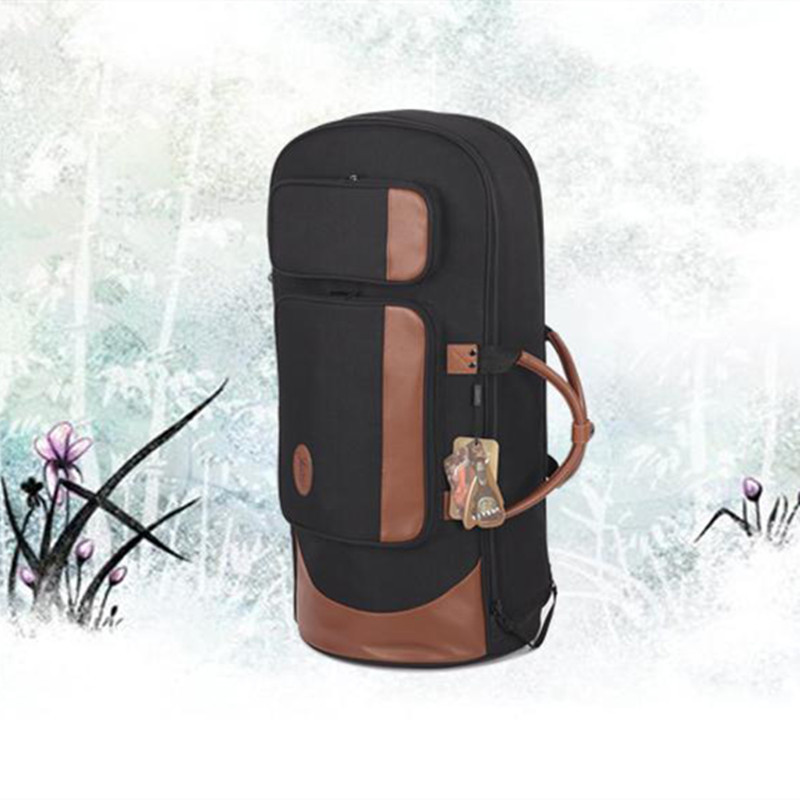 Professional portable shock waterproof standing key bond horn bag euphonium case three flat key horn soft gig backpack shoulder 90cm professional portable bamboo chinese dizi flute bag gig soft case design concert cover backpack adjustable shoulder strap