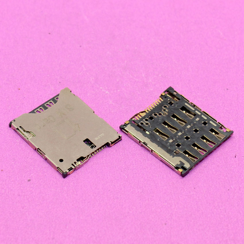 Best price New sim card socket module for Alcatel idol X one touch OT-6040 6040D 6040 memory card reader slot tray replacement.