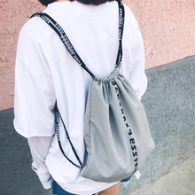 2017 Brand Cheap Backpack Women Korean Backpack Male Travel Softback Feminine Drawstring Shoe Bag School Girls Backpacks