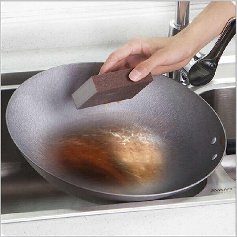 1pcs Spugna In Microfibra Tovaglioli Tampone di Pulizia asciugamano Pulito tutto per la cucina Magica Pulito Strofinare La Pentola Macchie di Ruggine spugna