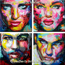 Top Artist Hand Painted Francoise Nielly Reproduction Oil Painting On Canvas Modern Abstract People Face Unique Painting