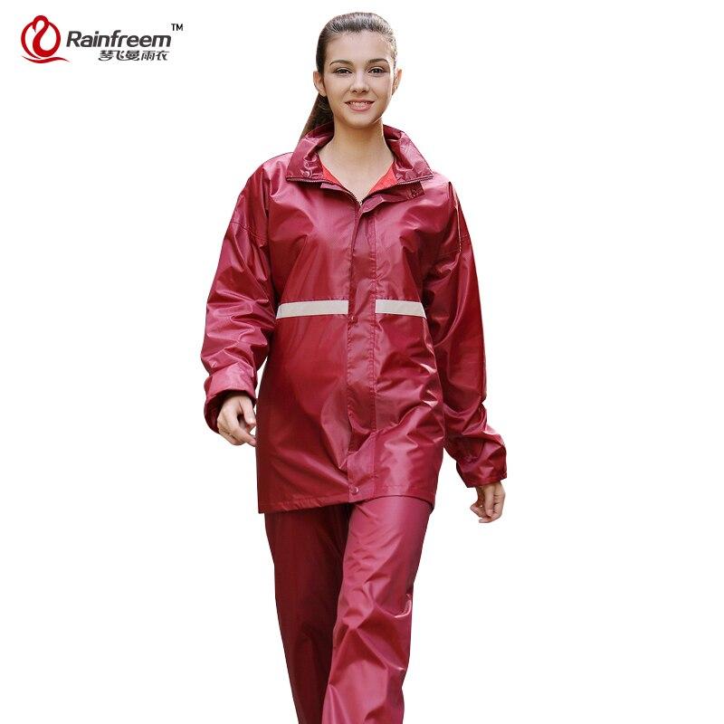 Rainfreem Hommes/Femmes Costumes Imperméable Imperméable Poncho Imperméable Double-couche Pluie Manteau Femmes Camping En Plein Air vêtements de Pluie Poncho