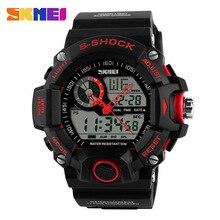 Skmei 1029 Men deportes relojes moda Casual impermeable de cuarzo reloj Digital hombre analógico militar de múltiples pulsera