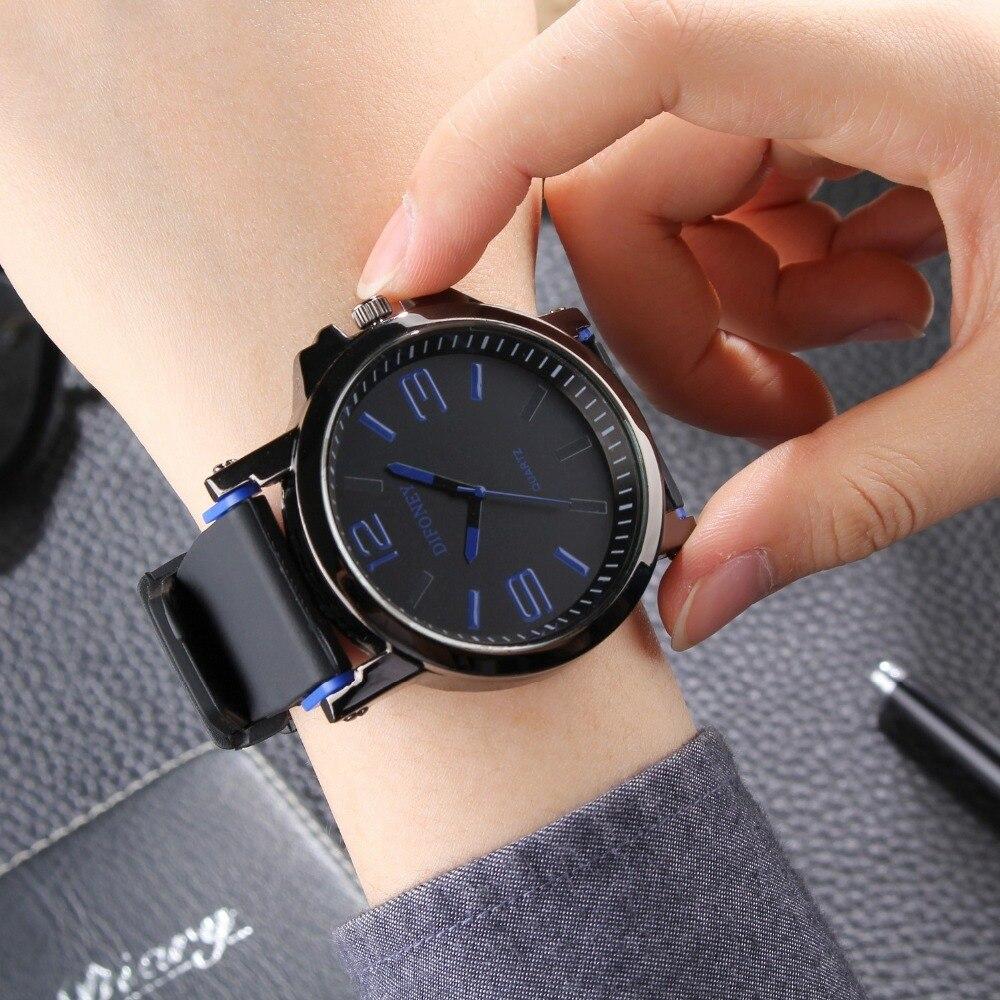 2019 DIFONEY Marca de moda Reloj deportivo Hombres Reloj analógico - Relojes para hombres - foto 5