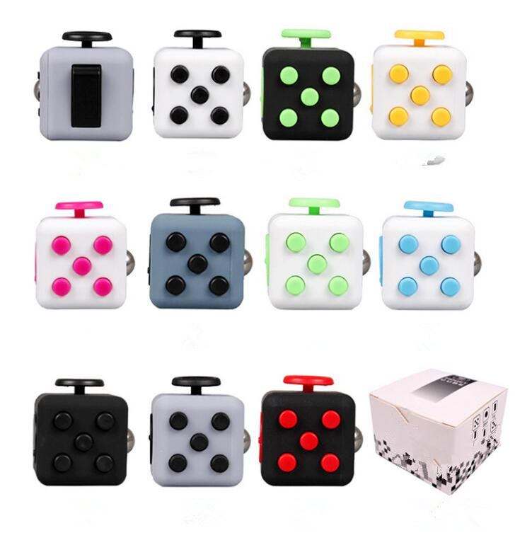 3.3*3.3cm Fidget Cube Toy A Viny Desk Spin Anti-stress Toy Gifts For Children Stress Wheel