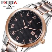 FOTINA Лучший Бренд JK Смотреть Мужчины Повседневная Мода Полный Нержавеющей Наручные Часы Водонепроницаемые Роскошные Золотые Бизнес Часы Мужчины Часы Reloj