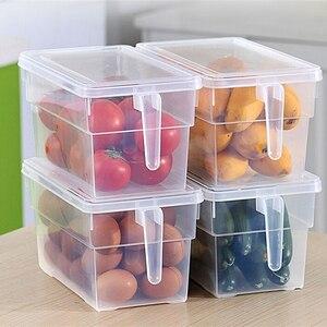 Image 5 - 2 шт кухонный прозрачный PP ящик для хранения зерна содержит герметичный Домашний Органайзер контейнер для еды холодильник коробки для хранения
