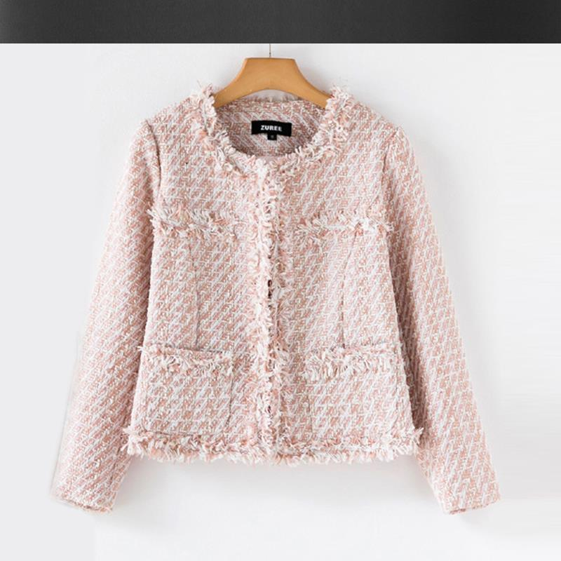 Aliexpress.com : Buy Pink orange tweed jacket Fall / Winter ...