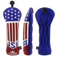 Craftsman Golf Wood Head Covers Headcover Fairway Wood FW Fairwood PU Leather Free Shipping