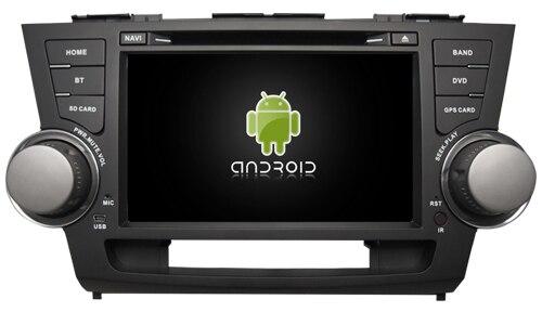 Convient pour TOYOTA highlander OTOJETA android 9.1 Wifi voiture lecteur dvd dispositif magnétophone GPS headunits avec bouton vert lumière