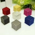 Retail 216Pcs 3MM Neodymium Magnetic Balls Spheres Beads Magic Cube Magnets Puzzle Birthday Present For Children Vacuum Package.