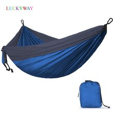 Ultralight Parachute Hammock 210T Nylon Durable Portable Outdoor Hanging Hamac For Backyard Double Person Hamak Free shipping