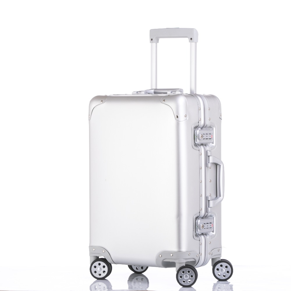 20'24'26'29' Matte 100% Aluminum Luggage Suitcase Travel Traveling Trolley Rolling Spinner Hardside Carry On Luggage Suitcase