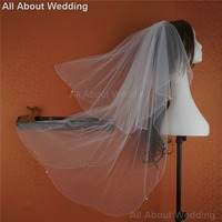 Clear Drop Tulle Bridal Veil Wedding Hair Accessory Bridal Cover New Style Real Photo