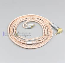 LN005818 3.5mm 2.5mm Balanced XLR 16 Core OCC Silver Mixed Earphone Cable For AKG N5005 N30 N40 MMCX(China)