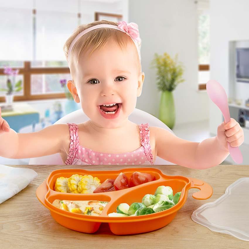 Высокое Качество PP безопасный для малышей милые Кормление фрукты Миски Детские Дети Слон в форме ребенок Посуда BPA бесплатно