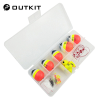 OUTKIT Sea Fishing Floats Set Buoy Bobber Boia Fortune Paulownia Wood Floats For Pesca R Fishing