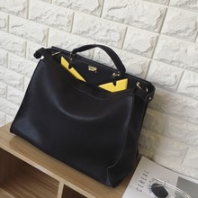 female leather  tote  shoulder bag big bag messenger bag Brand luxury