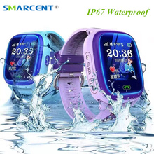 DF25 ребенок SmartWatch IP67 Плавание GPS сенсорным экраном телефона, Смарт-часы SOS вызова расположение устройства трекер дети Безопасный анти-потерянный мониторы PK Q50