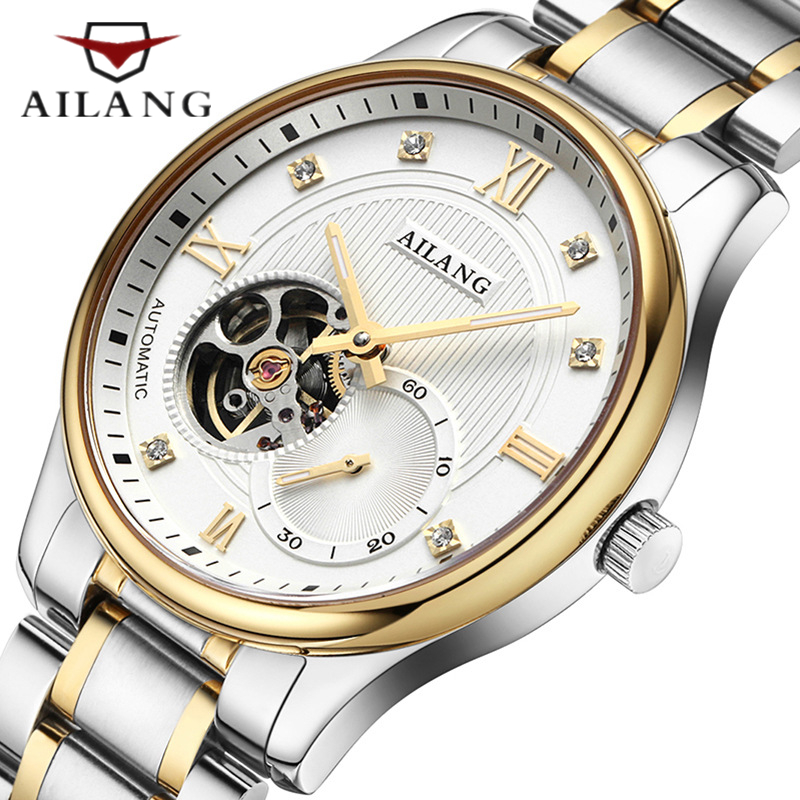 Famous brand Men Tourbillon Mechanical watch Casual Gold Stainless steel watch Men top grade gift Automatic Mechanical Watch все цены