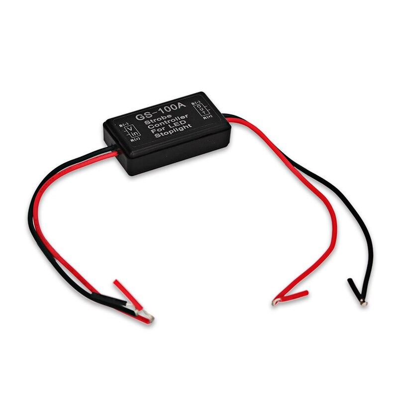 Gs-100a 12v 24v Led Brake Flasher Module Strobe Controller - Ավտոմեքենայի լույսեր - Լուսանկար 3