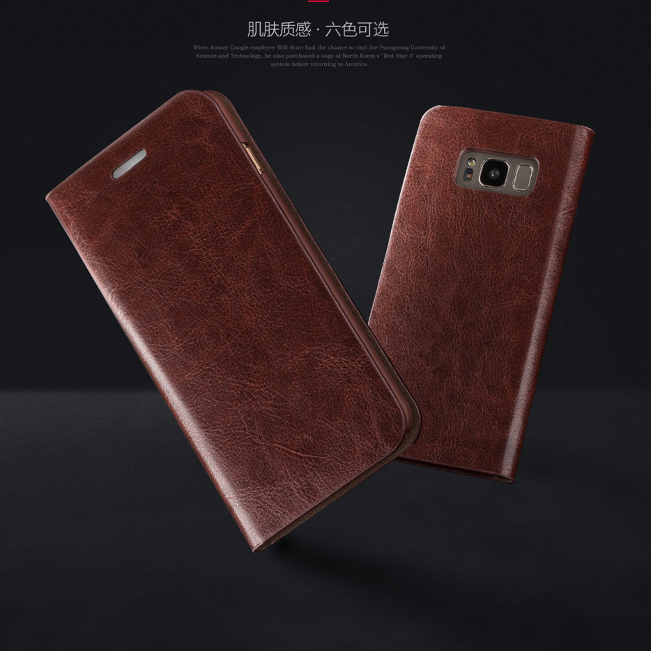 Case for S10e S9 + S8 Plus Musubo շքեղ կաշվե մատի - Բջջային հեռախոսի պարագաներ և պահեստամասեր - Լուսանկար 5