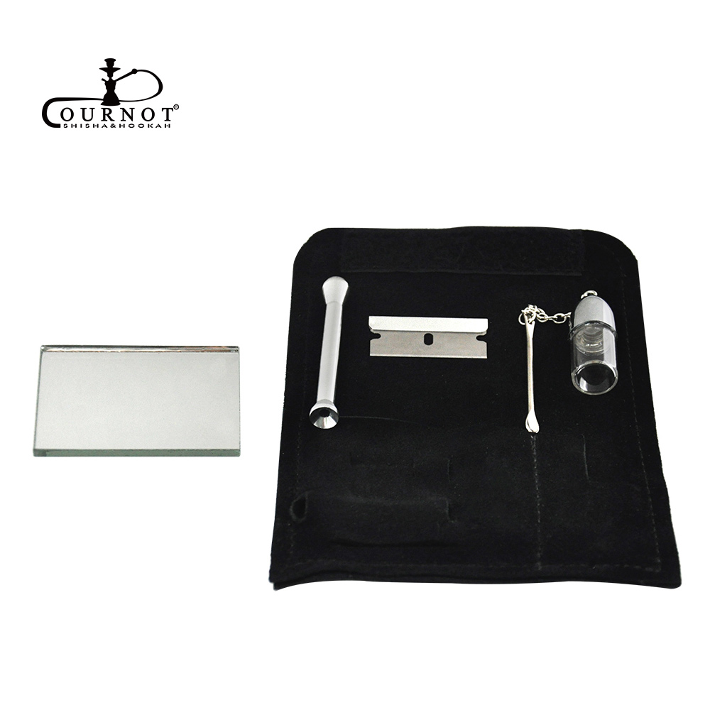 COURNOT 100% Genuine Leather Tobacco Pouch Bag+Snorter Snuff Bottles with Spoon Sniffer Straw Hoover Pouch Bag Pipe Case