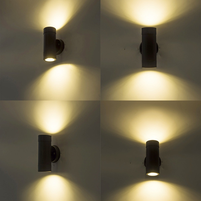 Double side led wall light indoor outdoor stair light 110V 220V hallway lights modern wall mounted lamp retro sconce up and down