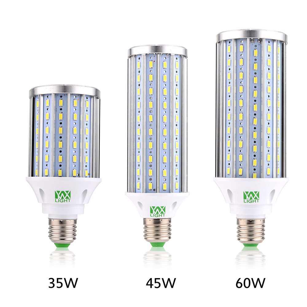 YWXLight E27 Aluminum High Power Corn Light 35W 45W 60W 5730 SMD 108 140 160 LED AC 110V 220V 85V-265V Living Room Lighting lole капри lsw1349 lively capris xl blue corn