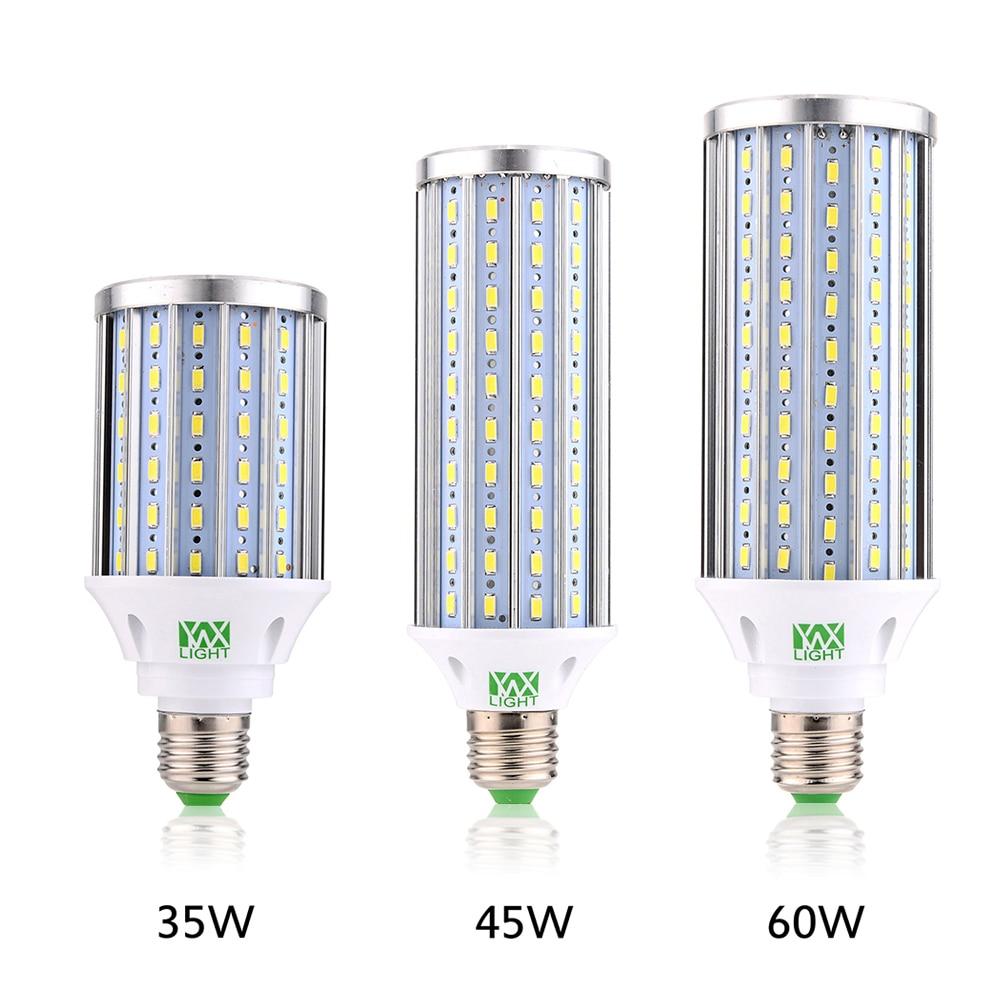 YWXLight E27 Aluminum High Power Corn Light 35W 45W 60W SMD5730 AC 110V 220V 85V-265V Living Room Lighting LED Lamp Spotlight цена