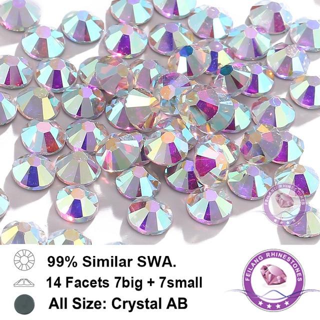 Top Quality Stones Similar Swa Crystals AB Hotfix Rhinestones For Garment Transfer  Design Wedding Dress Rhinestone ae283158848f