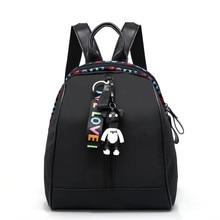 2019 Fashion Women Backpack School Bags for Teenage Girls Bear Pendant High Qual
