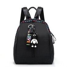 2019 mochilas escolares para mujeres de moda para niñas adolescentes oso colgante de alta calidad bolsas de viaje para jóvenes Mujer femenina