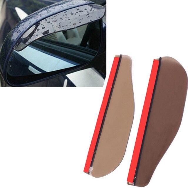 Newest 2 Pc Car Rear View Mirror Rain Shade Flexible Anti Rain Guard Sun Shade Cover High Quality Auto Weatherstrip Car-Styling