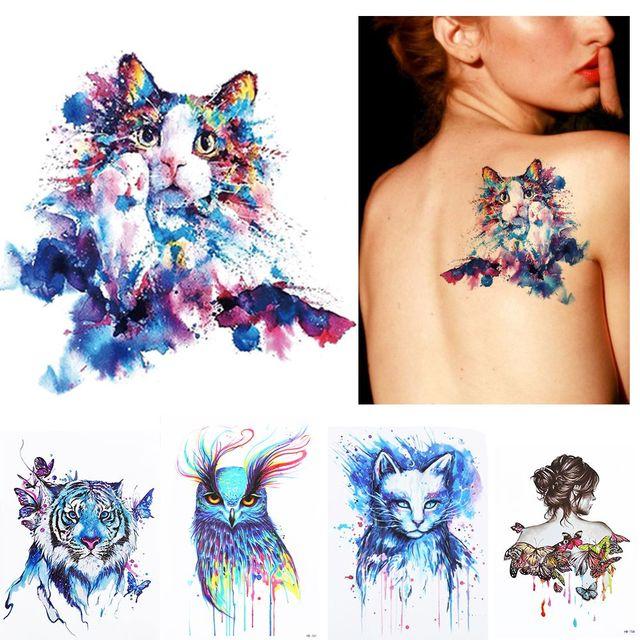 New 1Pc Summer Beach 3D Body Art Temporary Tattoo Colorful Animals ...