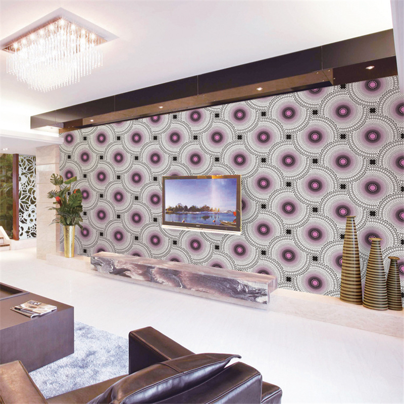 living simple background pattern wall pvc beibehang overlapping personality circle film modern