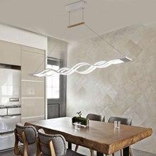 Wave design modern dinning room Studyroom pendant light , led lighting AC 85-260V 80W kitchen pendant lamp luminaire bar