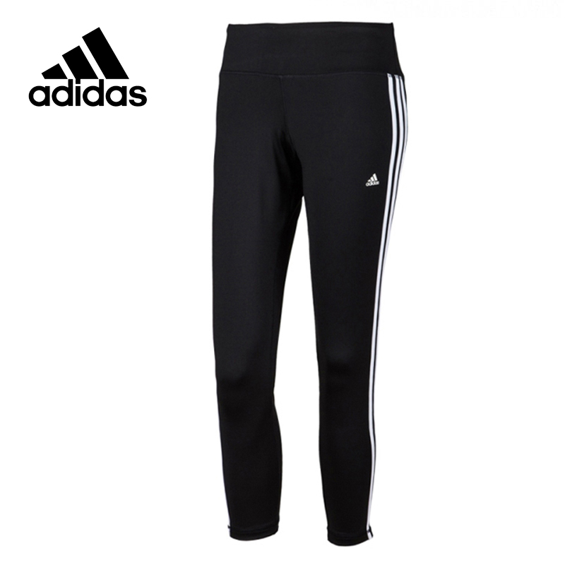 Adidas Original New Arrival Official Women's Tight Elastic Training Black Pants Sportswear AJ9366 original new arrival official adidas women s tight elastic training black pants sportswear