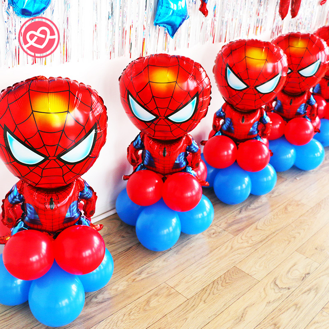 1 Set Kids Balloons Birthday Party Decoration Ideas Avengers Super Hero Captain America Superman Falcon