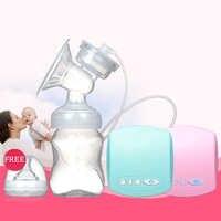 Bomba elétrica de Mama Automático Com Garrafa de Leite Infantil BPA livre Poderoso USB Manual de Bombas de Mama Alimentação Do Bebê Mama Bomba de Mama