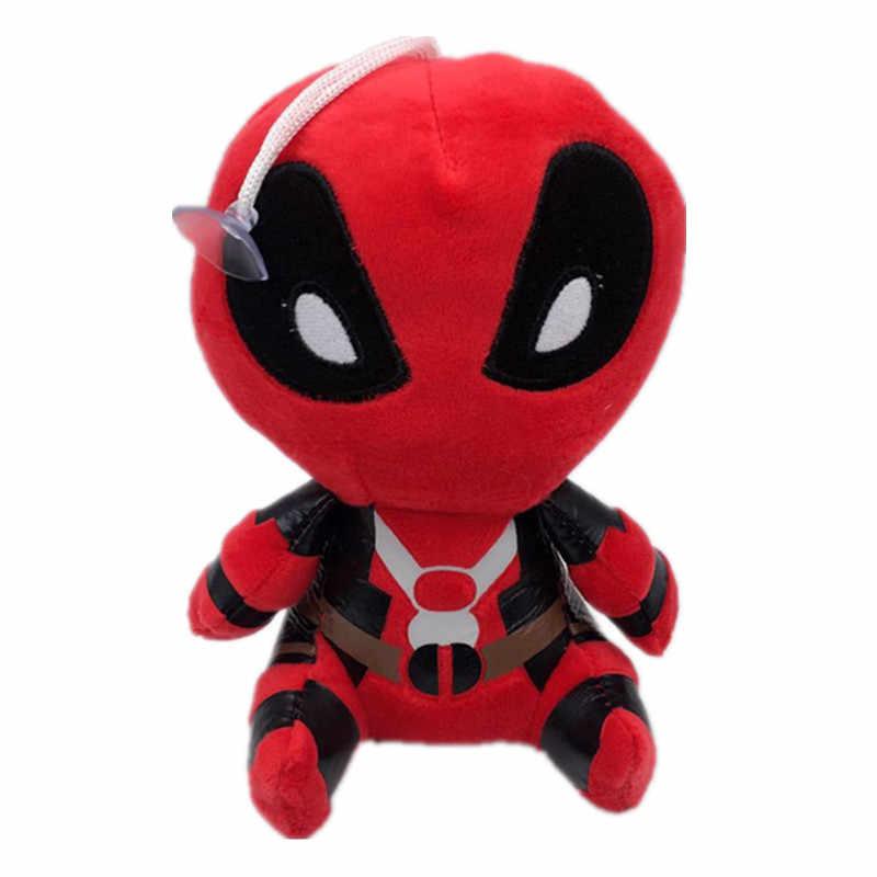 Filmes X homem-homem Aranha Deadpool Deadpool Boneca de Pelúcia Macia de Pelúcia Boneca Brinquedos com otário pingente Presente de aniversário do bebê com pingente