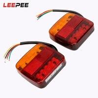 LEEPEE 2pcs Car Brake Tail Lamps Car Turn Signal Lights Car Styling 12V Auto Rear Lights