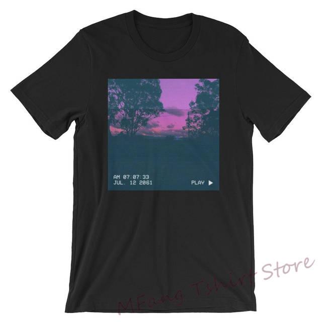 Time Traveler 2061 Aesthetic Tee Women Men T Shirt Purple