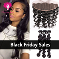 Malaysian Virgin Hair with Frontal Closure Malaysian Loose Wave With Lace frontal closure Ms Lula Hair with frontal and bundles