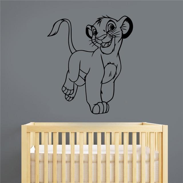 Aliexpresscom Buy Simba Vinyl Sticker Lion King Decal Wall - Lion king nursery wall decals
