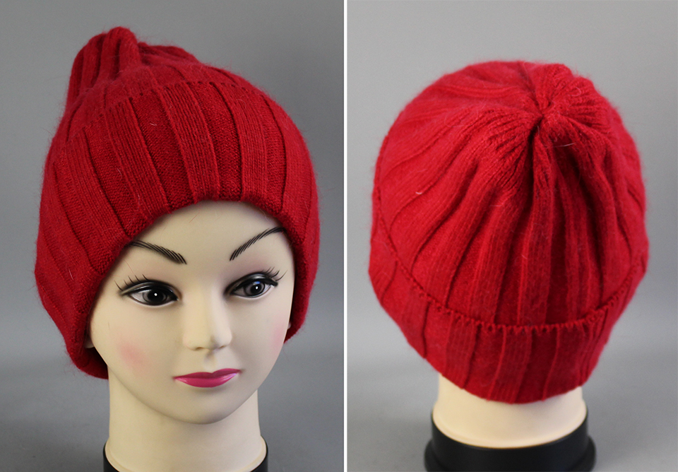 Thick Winter Hats For Women angora Beanies Hat knitted wool warm Beanie With Back Opening 2018 New (4)