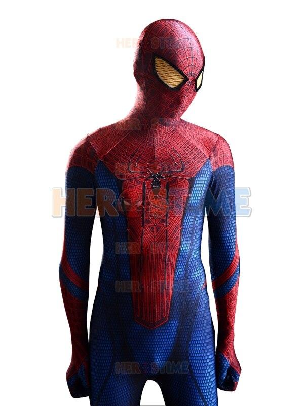 The Amazing <font><b>Spiderman</b></font> <font><b>Costume</b></font> 3D Original <font><b>Movie</b></font> Halloween Spandex <font><b>Spiderman</b></font> Superhero <font><b>Costume</b></font> fullbody zentai suit