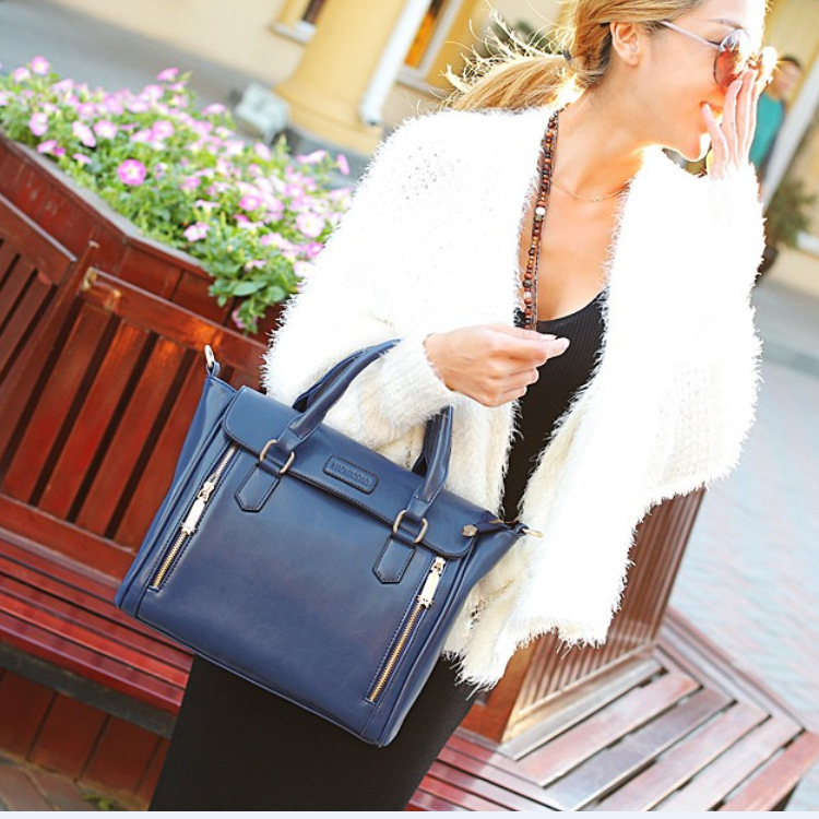 New Fashion Women Leather Tote Handbag Faux Leather Ladies Shoulder Cross Body Bag Satchel Travel Clutch handbag от Aliexpress INT